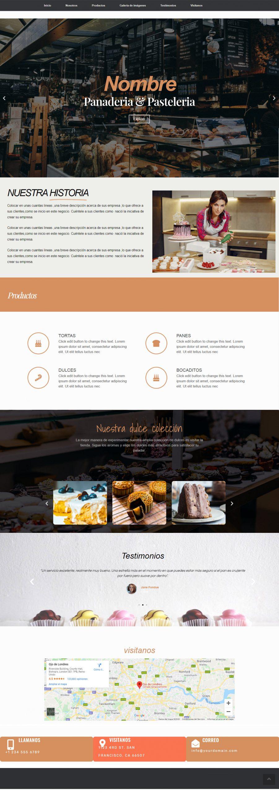 página-web-pastelería